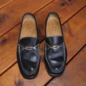 COLE HAAN Black Leather Bridle Bit Oxford Loafers